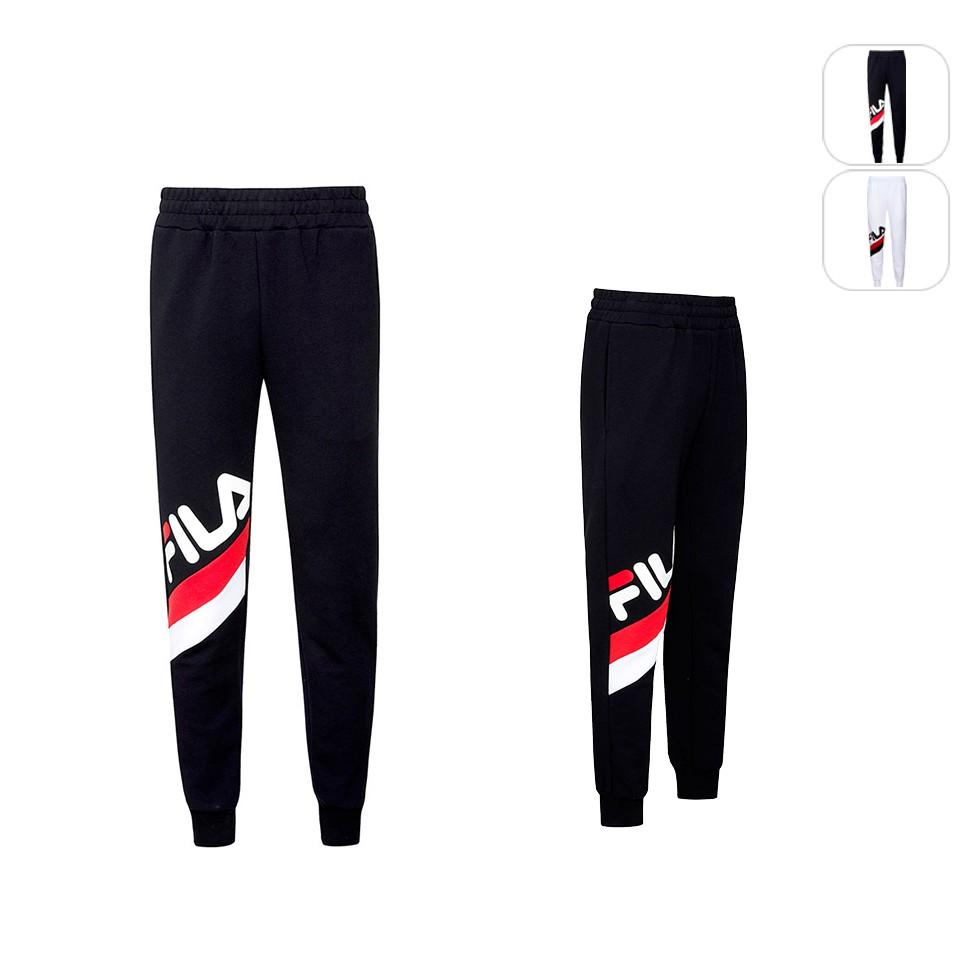 【FILA】中性 針織束口長褲-黑色 1PNU-1406-BK