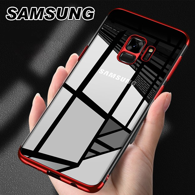 [現貨]SAMSUNG S9/S8/NOTE8 PLUS系列 TPU電鍍邊框手機殼超薄透明全包軟殼【QZZZ32000】