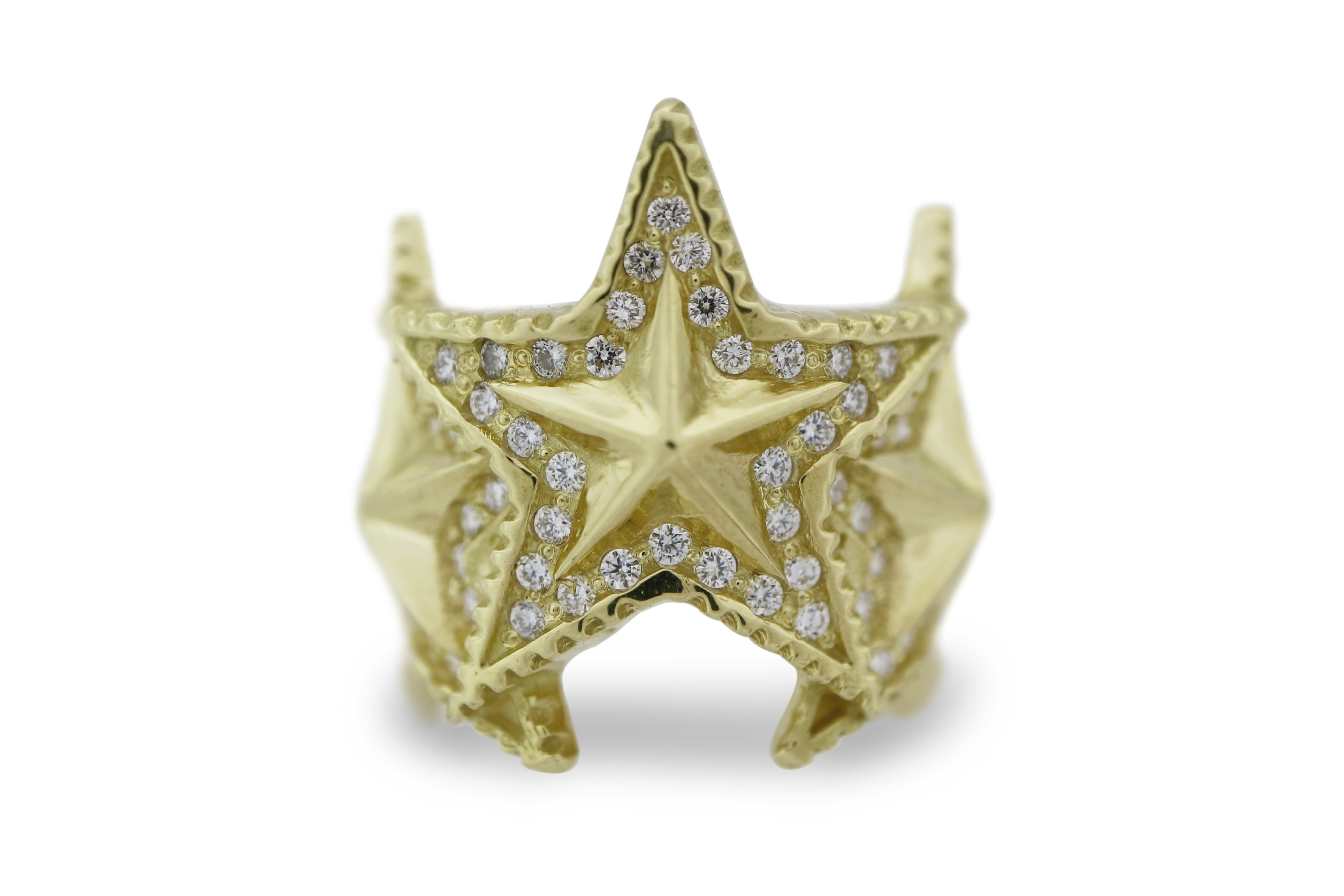 3 INTERLOCKING STAR RING 18K GOLD / DIAMONDS - VIP EXCLUSIVE