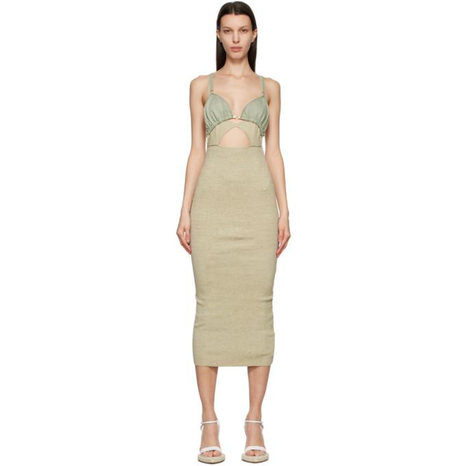 Jacquemus 灰褐色 La Robe Pila 亚麻连衣裙