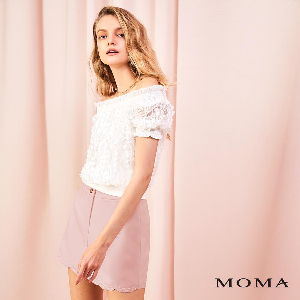 MOMA(01P080)扇形收邊褲裙