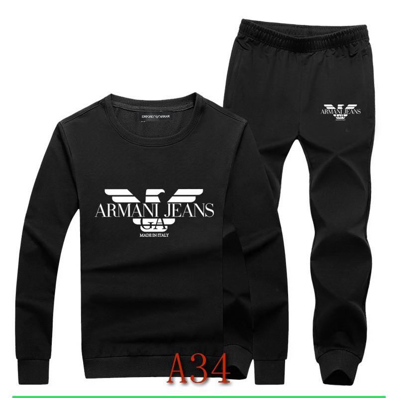 Armani 阿瑪尼 衣服 套裝 休閒裝 運動服 運動服 女生套裝 薄款 長袖+長褲 男生套裝 運動 情侶套裝 長袖套裝