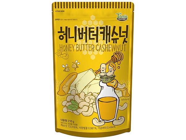 韓國 Tom's~腰果(蜂蜜奶油味)210g【D220147】零食/團購