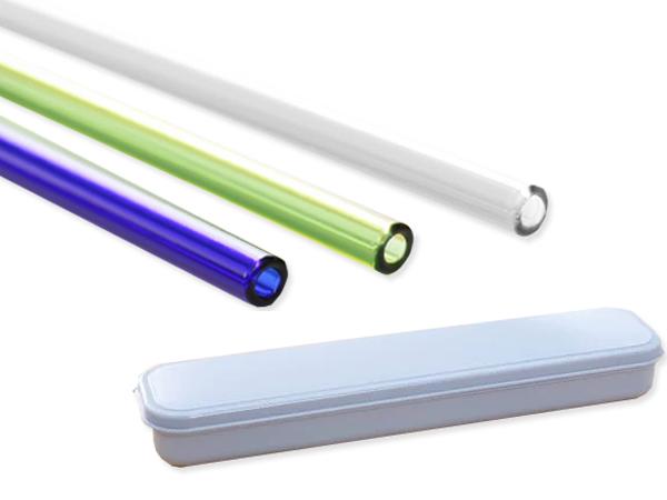 手搖杯專用加長彩晶玻璃吸管(6件組)【D554360】顏色隨機出貨