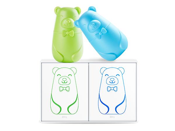 Renewll~馬桶芳香清潔熊(200g) 顏色隨機出貨【D782697】