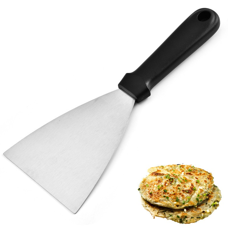 促銷價 廚房用具不銹鋼三角料理披薩鏟 塑料手柄鐵板燒牛扒工具廠家