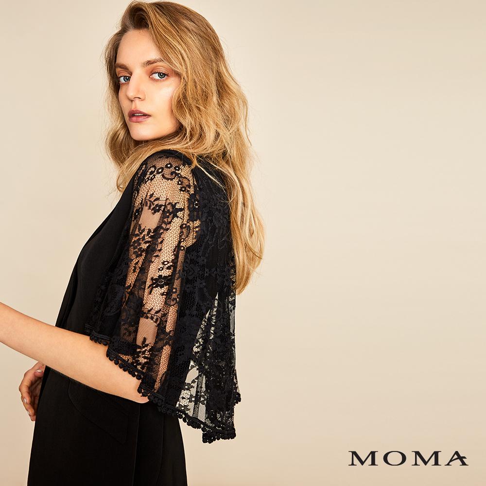 MOMA(01J019)傘狀蕾絲西裝外套