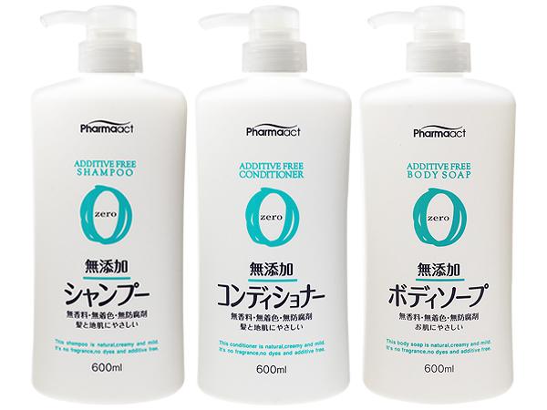 日本熊野~PharmaACT無添加洗髮精/潤髮乳/沐浴乳(600ml) 款式可選【D007277】