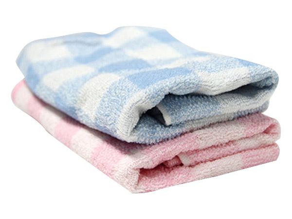 BVD~銀纖維格子毛巾BT11005(35x75cm)1入 顏色隨機出貨【D059853】