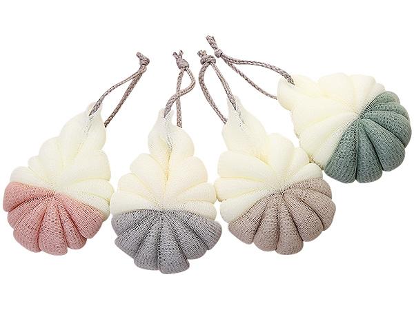 北歐風雙色沐浴球(1入) 顏色隨機出貨【D011658】