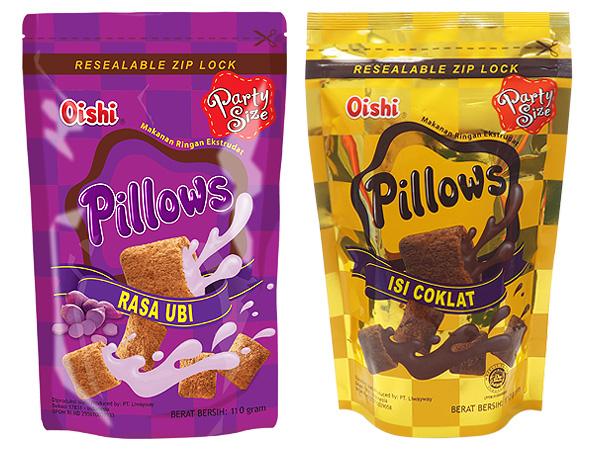 菲律賓Oishi~Pillows紅薯風味/巧克力風味/起司風味/榴槤風味 枕頭造型餅乾(110g) 款式可選【D301245】