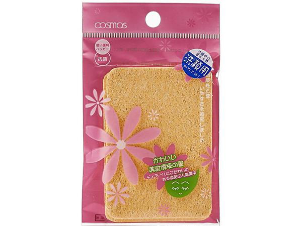 COSMOS~S30155-壓縮洗臉海綿(方形2入)【D030155】