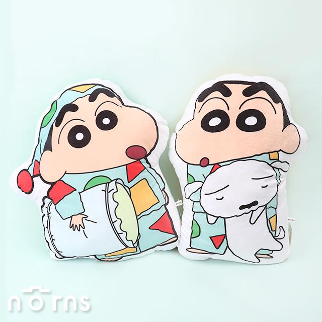 蠟筆小新2D彩印厚抱枕14吋- Norns  正版授權 靠枕靠墊 娃娃玩偶