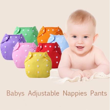 嬰兒可重複使用的可洗可調防水尿布