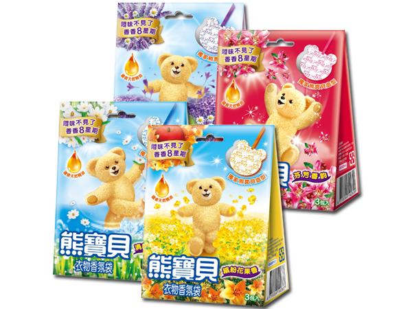 熊寶貝~衣物香氛袋(3包入) 多款可選【D102813】