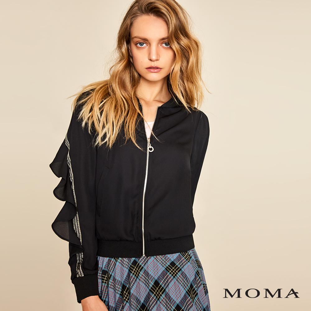 MOMA(01J002)造型袖透視外套