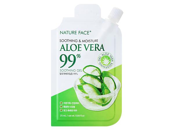 韓國 Nature Face+~99%蘆薈保濕舒緩凝膠25ml 攜帶包/隨身包【D549025】
