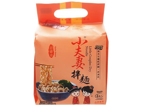 小夫妻Q麵~菇蠔油乾拌麵(全素)103gx4包入【D250097】泡麵/團購