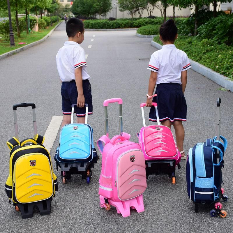 新款上市☀小學生拉桿書包1-3-5-6年級男女兒童6-12周歲防護脊減負可拆卸超輕減負國中大學書包特賣男女款護脊背包通用