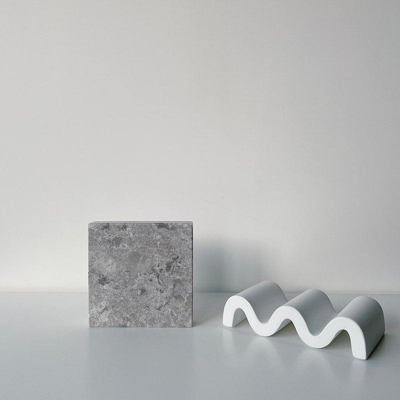 香氛蠟燭賽爾灰底座-White Terrazzo