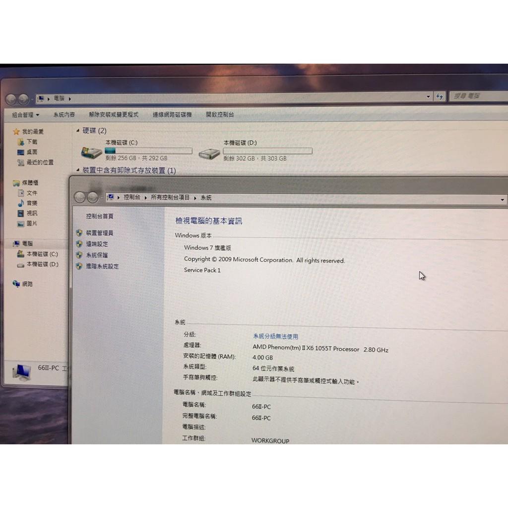 二手電腦CPU AMD Phenom IIX6 獨立顯示卡 1055T 主機殼換新灰塵已清理CPU 顯示卡晶片重塗散熱膏
