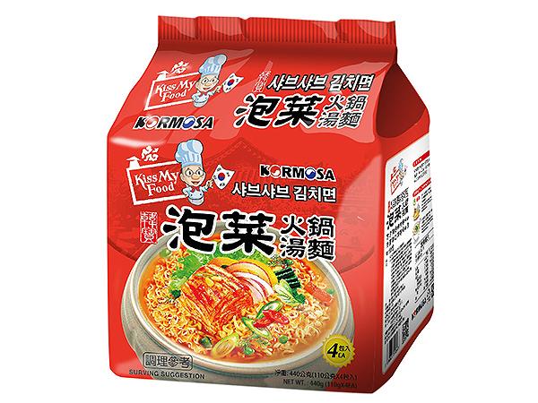 韓國 KORMOSA~ 泡菜火鍋湯麵(110g*4入/整袋裝)【D640541】