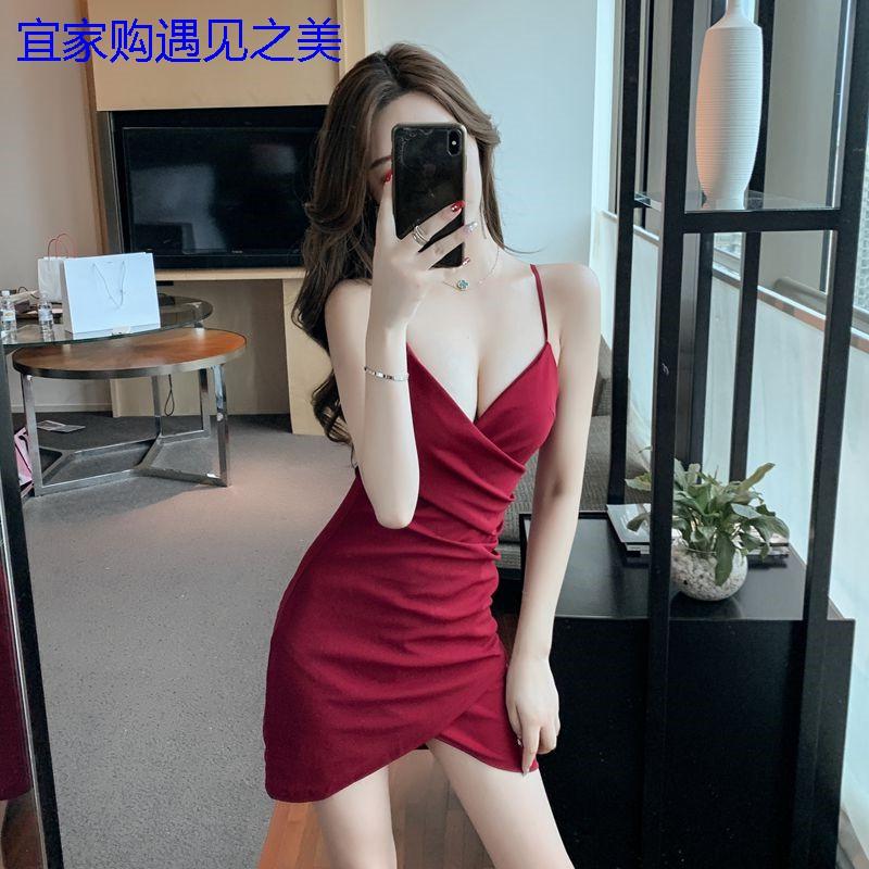 【宜家購女裝】⚡性感⚡韓版✨顯瘦吊帶連身裙♥吊帶連衣裙氣質