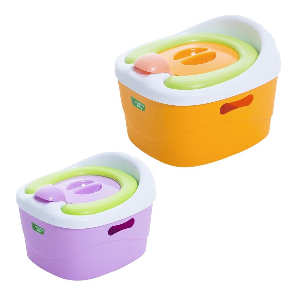 Creative Baby 創寶貝 多功能三合一學習軟墊馬桶 隨機