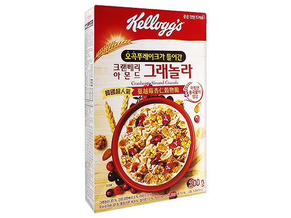 家樂氏 Kellogg's~蔓越莓杏仁穀物脆(300g)【D453002】