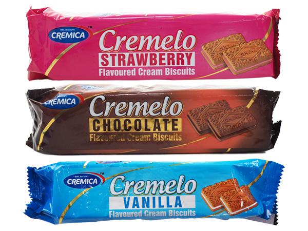 印度 CREMICA 可尼佳~夾心餅乾(90g) 草莓/巧克力/香草 款式可選【D260631】