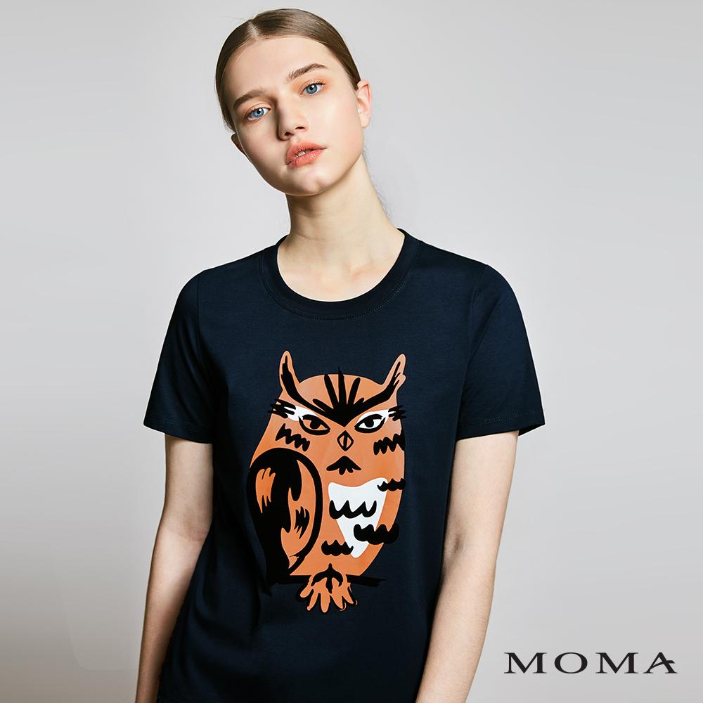 MOMA(01M044)貓頭鷹T恤-剩餘34號