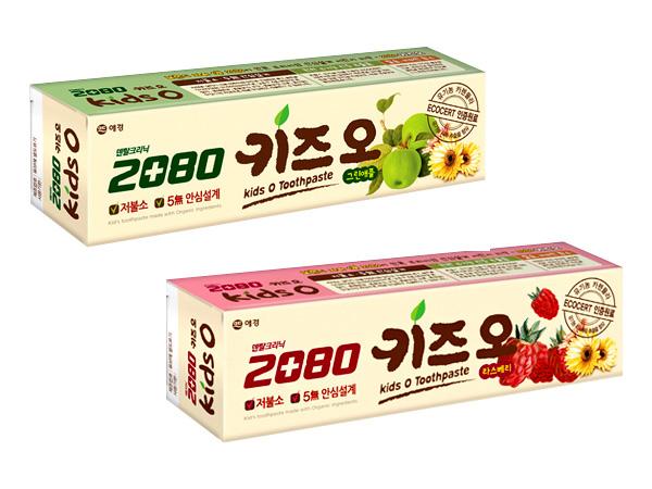 韓國 2080~有機莓果/蘋果兒童牙膏(100g) 2款可選【D887387】