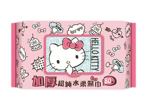 Hello Kitty~加厚超純水柔濕巾(加蓋80抽)【D503779】