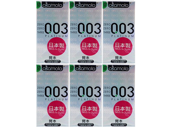 日本 okamoto 岡本~003衛生套(極薄型)12入x6盒 組合款  保險套【D670861】