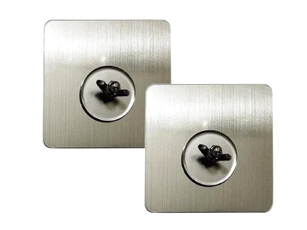 JUSTY 304不鏽鋼強力無痕N次螺絲貼(2入組)【D020529】