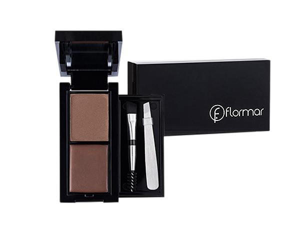 Flormar~巴黎魅力二合一雙效眉彩寶盒(眉蠟1.7g+眉粉1.8g) #030深棕【D450442】