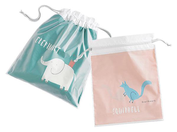 雙層旅行收納束口袋(1入) 款式隨機出貨【D011664】