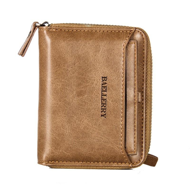 【男士皮夾】新款錢包男士短款韓版個性復古青年學生拉鏈錢夾多功能駕駛證皮夾