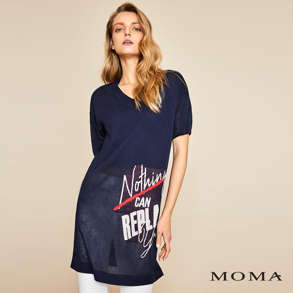 MOMA(01KM28)標語針織長上衣