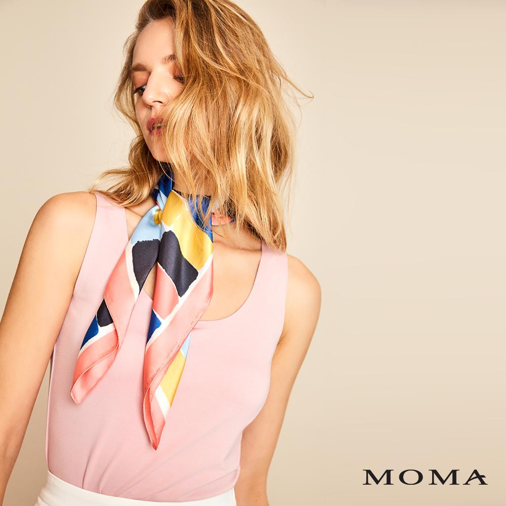 MOMA(01M049)極簡圓領無袖上衣
