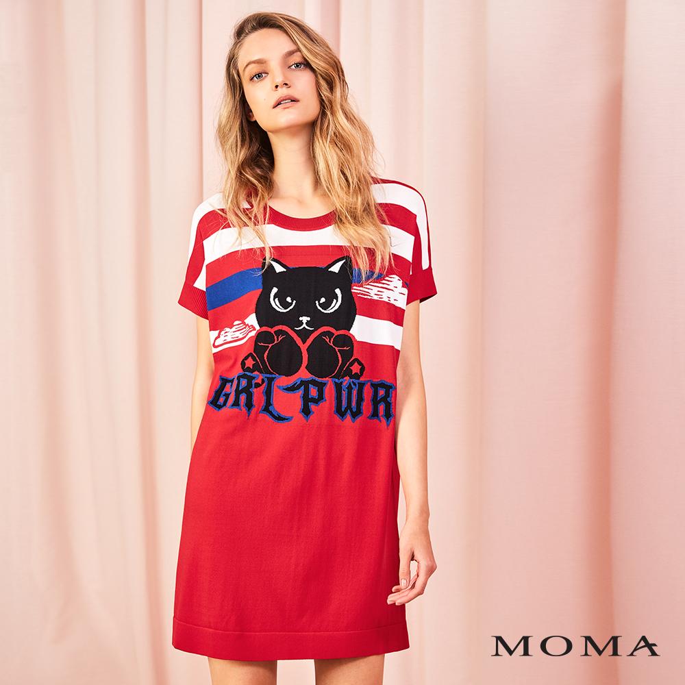 MOMA(01KM37)貓咪針織長上衣