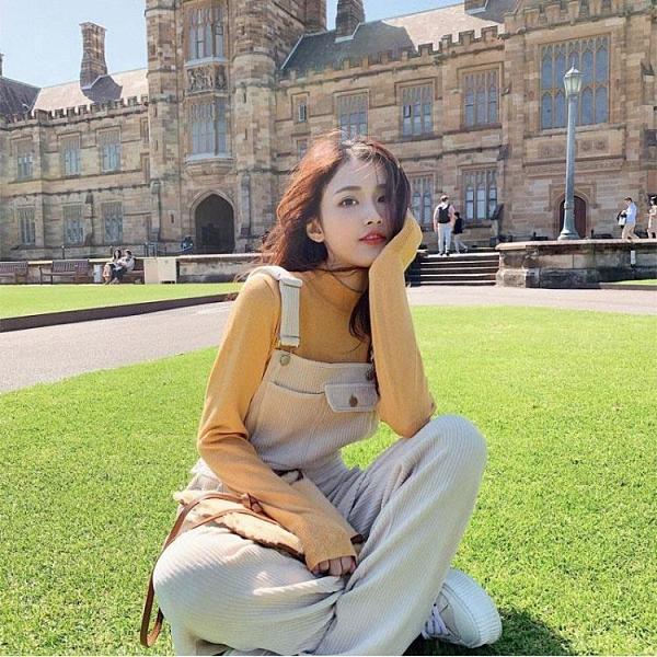 背帶褲 禦姐赫本時尚洋氣炸街減齡氣質休閒背帶褲兩件套裝女秋冬季【快速出貨】
