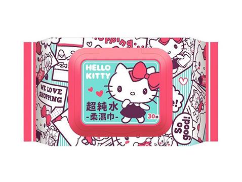 Hello Kitty~超純水柔濕巾(加蓋30抽)【D503724】三麗鷗授權