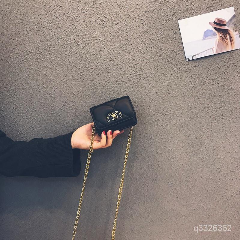 網紅迷你小包包女包新款法國小眾洋氣斜挎百搭ins少女鏈條包