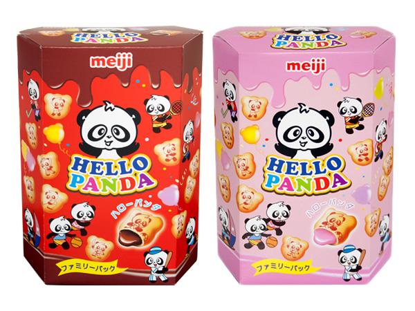 meiji 明治~貓熊夾心餅乾(175g) 巧克力/草莓 兩款可選【D340119】