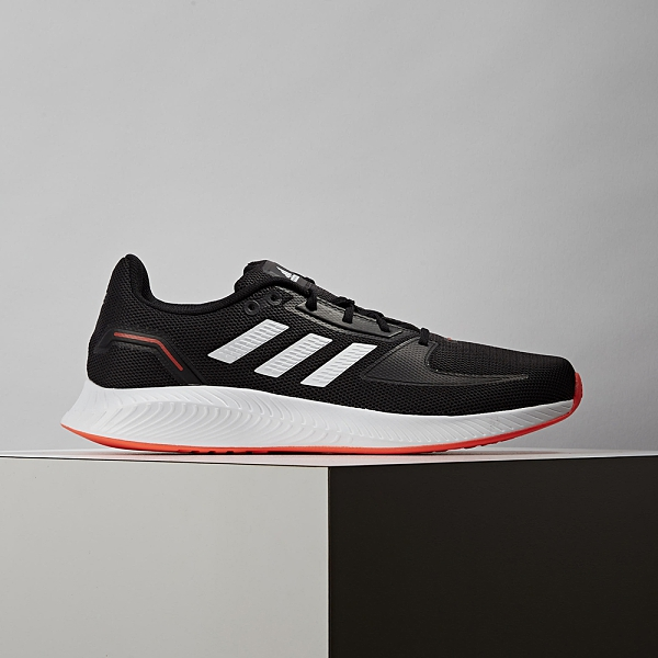Adidas Runfalcon 2.0 男 黑橘 緩震 運動 慢跑鞋 FZ2803
