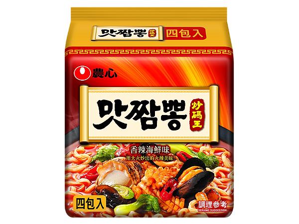 韓國 農心~辣味炒碼麵130g*4包(整袋裝)【D033787】泡麵/團購