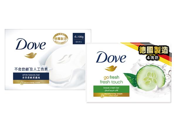 Dove 多芬~滋養柔嫩潔膚塊/清爽水嫩潔膚塊(100gx4入) 兩款可選【D364918】香皂