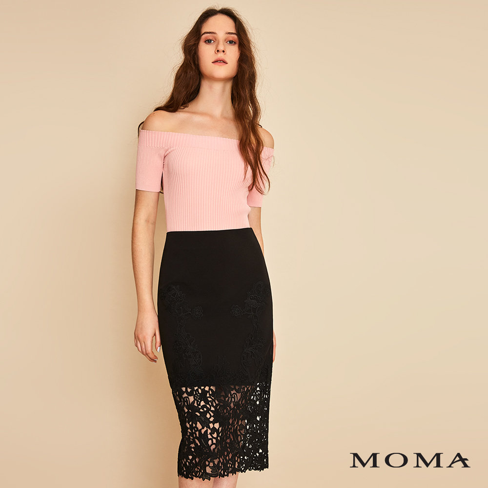 MOMA(01S030)蕾絲透視直裙-剩餘34號