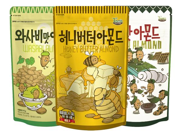 韓國 Tom's~杏仁果(大)1包入 多款可選【D200175】